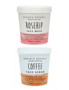 Organik Botanik Face Scrub and Face Mask Duo