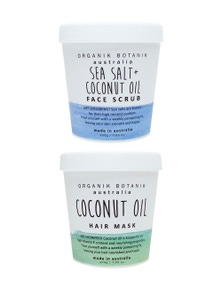 Organik Botanik Face Scrub and Hair Mask Duo