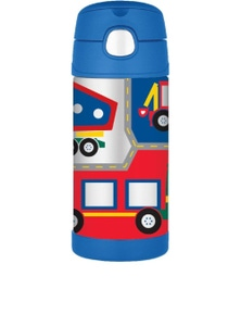 Thermos Funtainer Drink Bottle 355ml Construction Vehicles