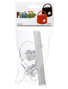 Thermos Funtainer Replacement Mouth Piece & Straws For Bottle With Carry Loop