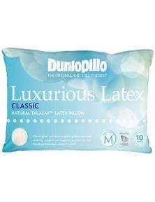 Dunlopillo Luxurious Latex Medium Profile and Feel Classic Pillow