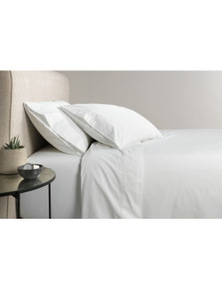 Sheridan 300TC Organic Percale Cotton Fitted Sheet Queen Bed