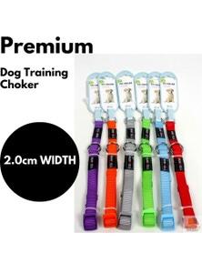 DOG TRAINING CHOKER Collar Martingale Adjustable Lead 2.0cm Width New