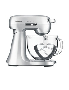 Breville The Scraper Stand Mixer Kitchen w 4.7L Glass Bowl - Silver