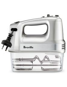 Breville The Handy Mix & Store Hand Mixer Stainless Steel