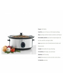 Maxim Kitchen Pro 6.0L Stainless Steel Slow Cooker