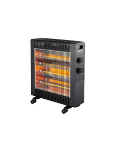 Heller 2200W Black Quartz Radiant Heater Floor with 2 Heating Settings