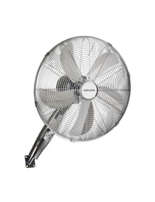 Heller 40Cm Chrome Finish Wall Fan With Remote Control