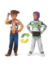 Rubies Woody To Buzz Lightyear Deluxe Reversible Childrens Costume