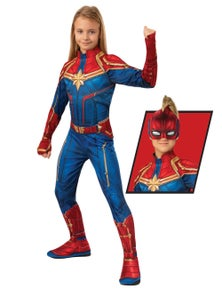 Rubies Captain Marvel Classic Hero Suit Childrens Costume