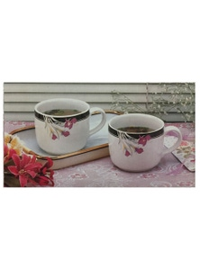 Soup Mugs with Tray 3pc