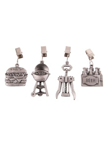 Pizzazz BBQ Tablecloth Weights Pewter Set of 4