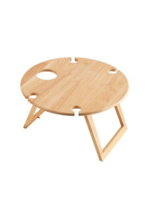 Stanley Rogers Wood Round Travel Picnic Table 50cm