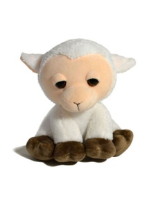 18cm Sitting Farm Animal - Sheep