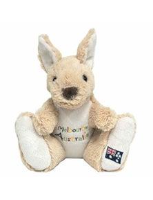 20cm Kangaroo Plush w/ Embroidery - Melbourne