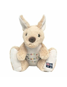 20cm Kangaroo Plush w/ Embroidery - Cairns