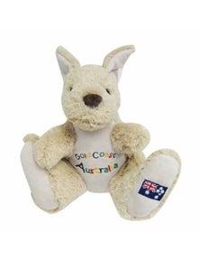 20cm Kangaroo Plush w/ Embroidery - Gold Coast