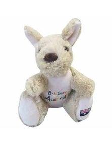 20cm Kangaroo Plush w/ Embroidery - Brisbane