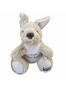 20cm Kangaroo Plush w/ Embroidery - Adelaide