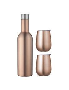 Avanti Double Wall Wine Traveller Set - Rose Gold