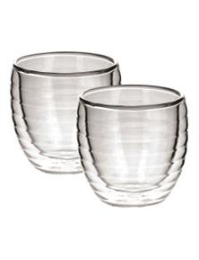Avanti Ripple Twin Wall Glasses 80Ml - Set Of 2