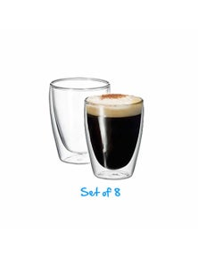 Avanti Caffe 8pc Twin Wall Glass Set