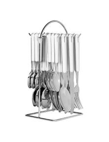 Avanti 24 Piece Hanging Cutlery Set - White