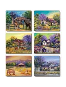 Cinnamon Cork Backed Coasters Set of 6 Jacaranda House