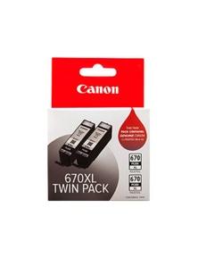 Canon PGI670XL Ink Twin Pack - Black