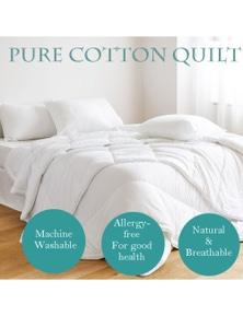 Benson Benson 100% Natural Pure Cotton Quilt Machine Washable