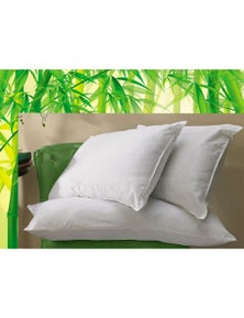 Benson 100% White Cotton Covered Standard size Natural Bamboo Pillow
