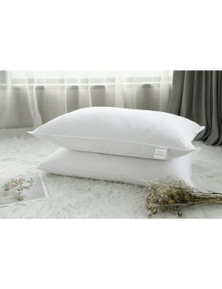 Benson 100% Pure White Duck Feather Pillows - Twin Pack