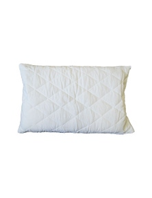Bonwin Homewares Pair of Quilted Cotton Covered Pillow Protector