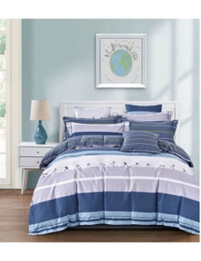 Benson Luxury Printed Pure Cotton Quilt Cover Set-Olympic