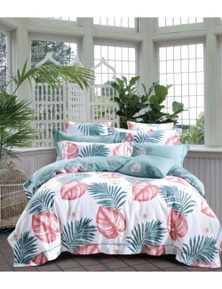 Benson Luxury Printed Pure Cotton Quilt Cover Set-Tranquil