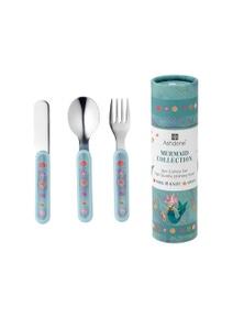 Ashdene Childrens Cutlery Set 3 Piece - Mermaids