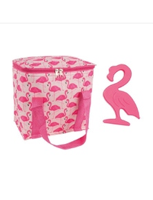 Porta 7L Cooler Bag and Ice Block Set Flamingoes