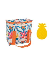 Porta 7L Cooler Bag and Ice Block Set Tropical Flora