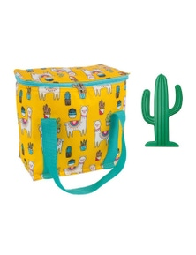 Porta 7L Cooler Bag and Ice Block Set Llamas
