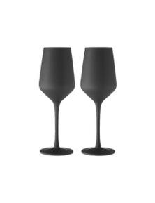 Ladelle Aurora Matte Black 2pk - Wine Glass