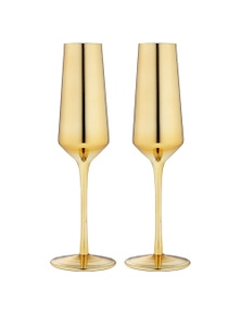 Ladelle Aurora Gold 2pk - Champagne Glass