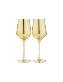 Ladelle Aurora Gold 2pk - Wine Glass
