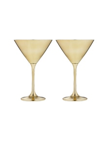 Ladelle Aurora Gold 2pk - Martini Glass