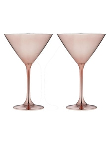 Ladelle Aurora Rose 2pk - Martini Glasses