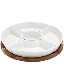 Ladelle Essentials Spinning Server - White