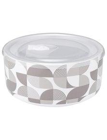 Ladelle Prep Microwave Food Bowl 16cm - Linear Grey Geo