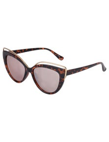 Aspect Fashion Cat Eye SunglassesTortoise/Gold Mirror