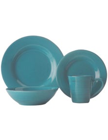 Casa Domani Portofino Turquoise Dinner Set Gift Boxed 16Pc