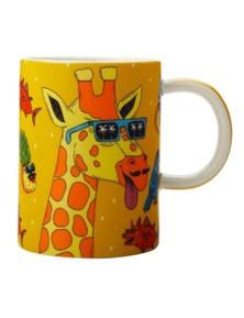 Maxwell & Williams Mulga The Artist 450Ml Porcelain Mug - Giraffe