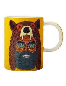 Maxwell & Williams Mulga The Artist 450Ml Porcelain Mug - Bear Man